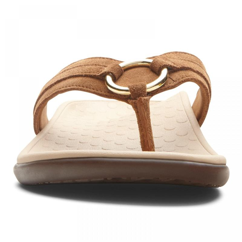 46ff242bc5f14 Women's Tide Aloe Toe Post Sandal Item # 10010474. BLACK SIDE VIEW. TOFFEE  SIDE VIEW. TOFFEE FRONT VIEW