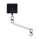 Hitch Phone Anchor + Tether - Clear Tether / Stainless MicroLocks - b