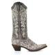 Women's Corral Brown Crater Bone Embroidery Boots - a