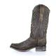 Women's Corral Brown/Grey Inlay Embroidery & Studs Boot - a