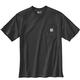 Men's Short Sleeve Loose Fit Heavy Weight Pocket Railroad T-Shirt - a