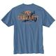 Men's Short Sleeve Relaxed Fit Heavy Weight Pocket Outdoor Back Graphic T-Shirt - a