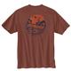 Men's Short Sleeve Loose Fit Heavy Weight Pocket Woods Back Graphic T-Shirt - a