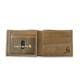 Two-Tone Billfold with Wing Wallet - BROWN