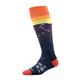 Womens Snowflake Over-The-Calf Light Sock - SUNSET